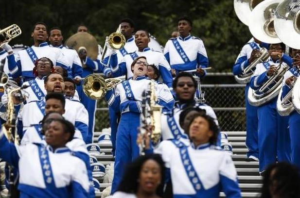 Elizabeth City State marching band performs in th...