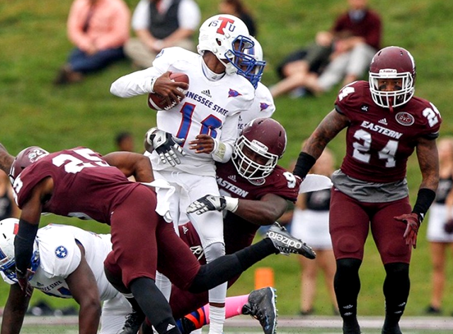 Tennessee State Tigers is out run by Eastern Kent...