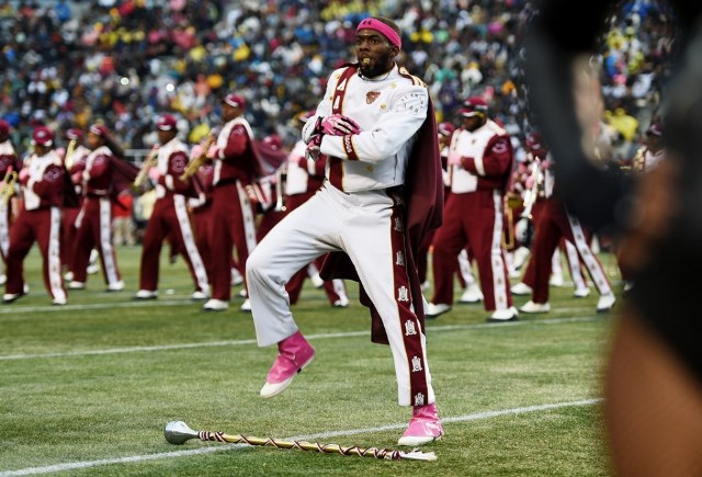 Alabama A&M marching band performs at halftime