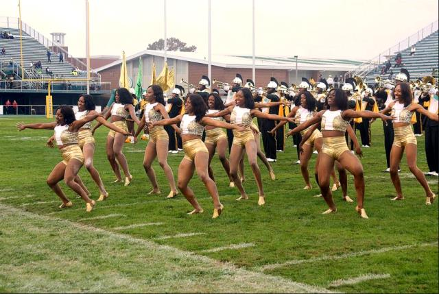 Norfolk State Hot Ice dancers perform at halftime...
