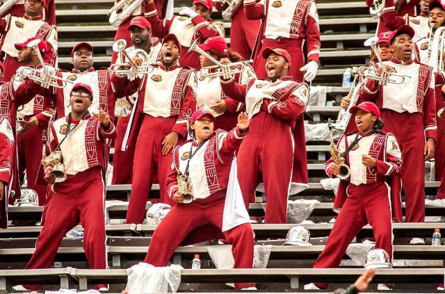 Shaw University Platinum Sound Marching Band perf...