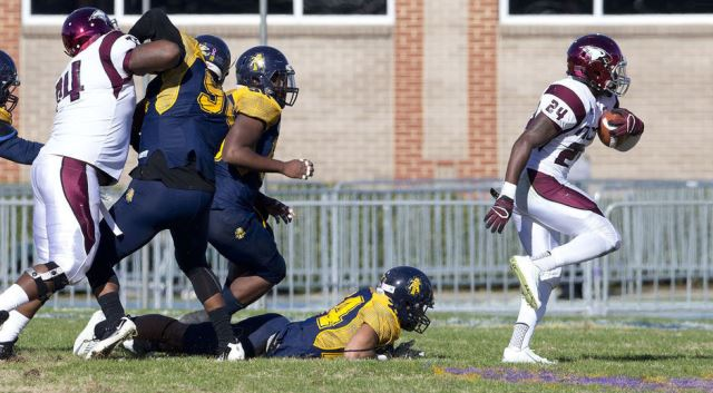 North Carolina Central Eagles fly over the Aggies...