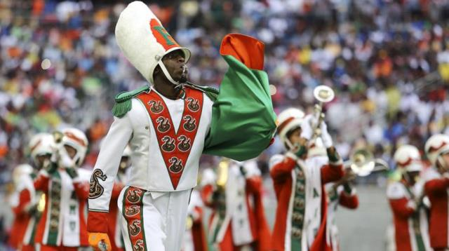 Florida A&M marching 100 perform at halftime