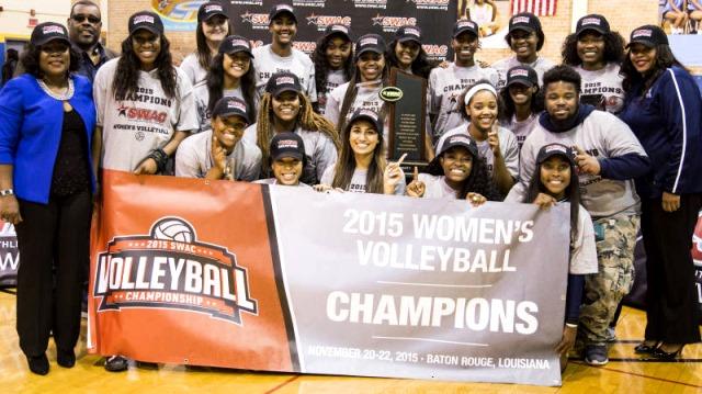Jackson State won the 2015 SWAC Volleyball Tourna...