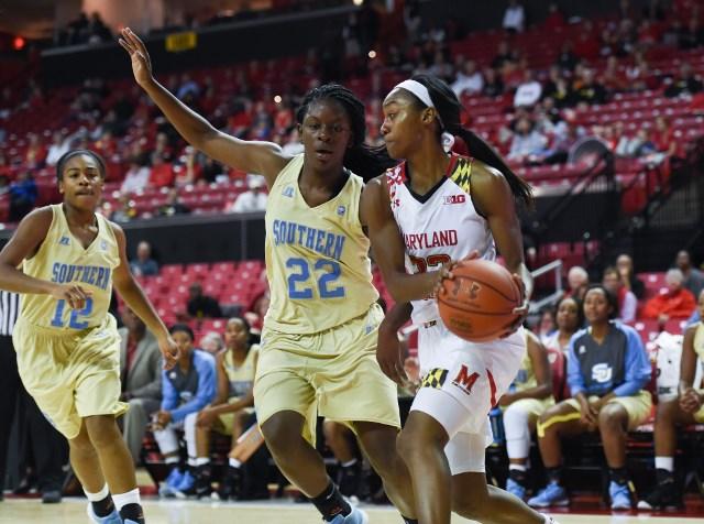 Southern Lady Jaguars take on Maryland Lady Terra...