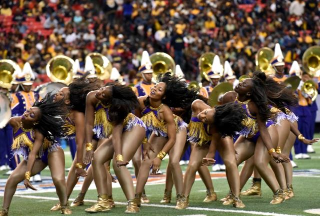 Alcorn State Golden Girls perform at the Celebrat...