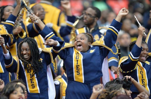 North Carolina A&T band enjoying the Celebration ...