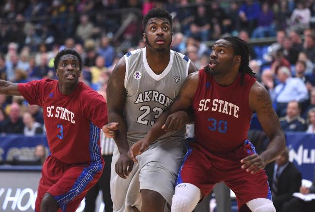 South Carolina State is out run by Akron