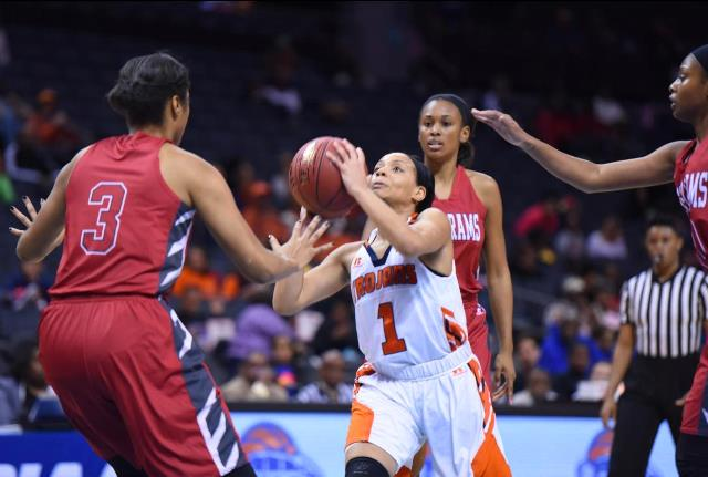 Winston-Salem State Lady Rams handle Virginia Sta...