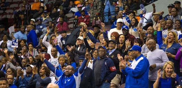Hampton Pirate fans at the 2016 MEAC Tournament